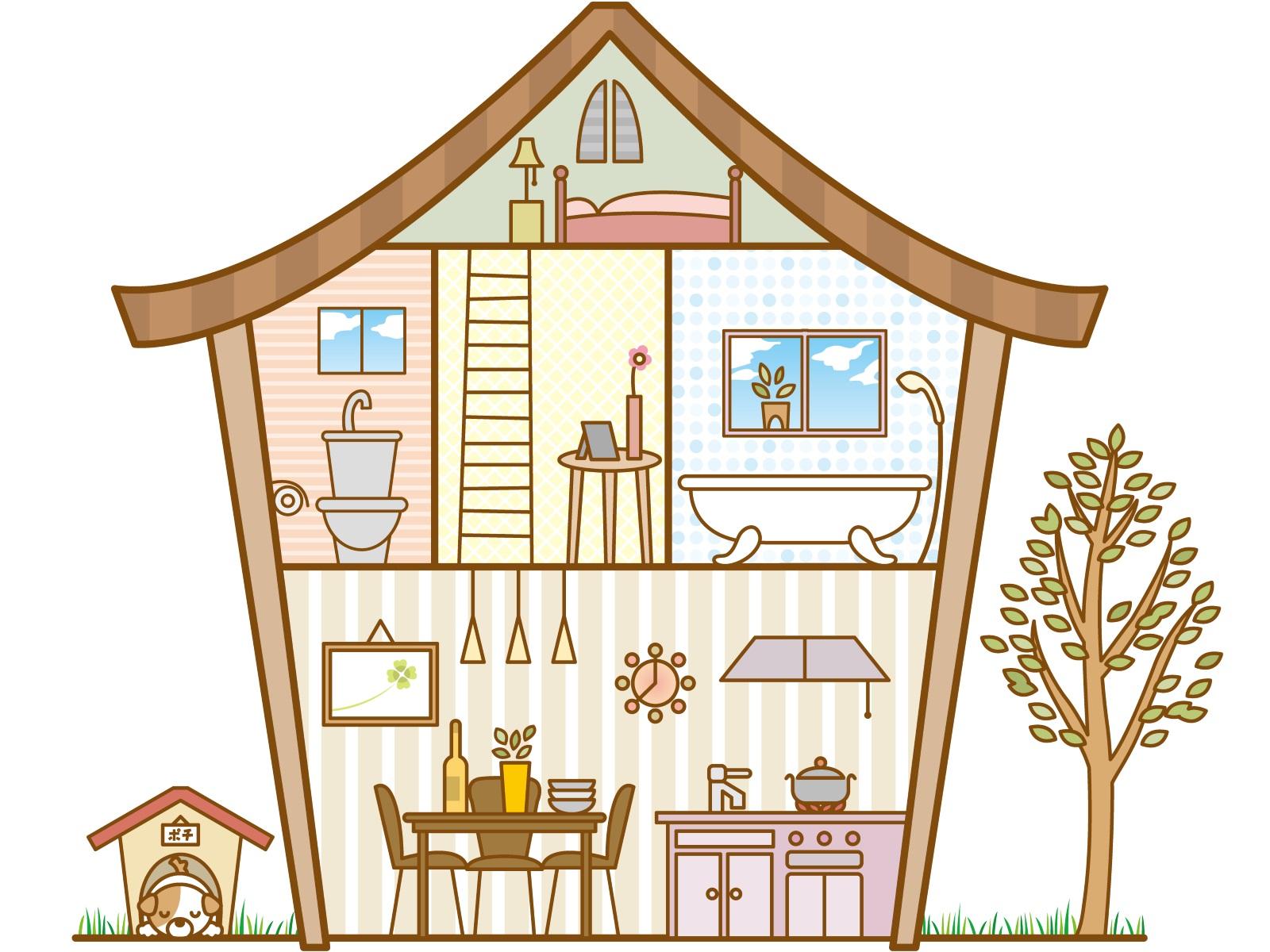 家の間取り図のイラスト