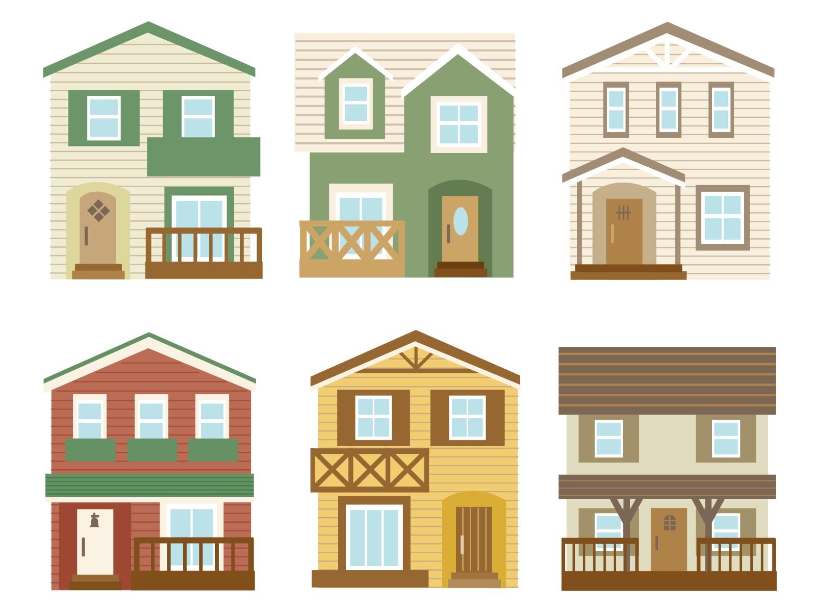 家が並んだイラスト