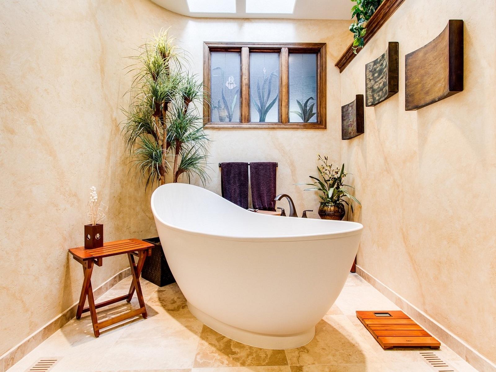 美しい浴室のイラスト