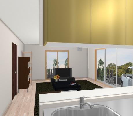 キッチンの垂れ壁のイラスト