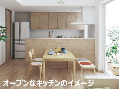 オープンなキッチンの写真