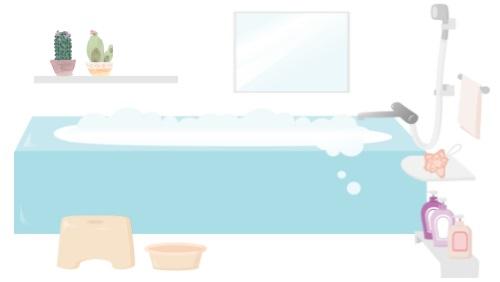 浴室のイラスト