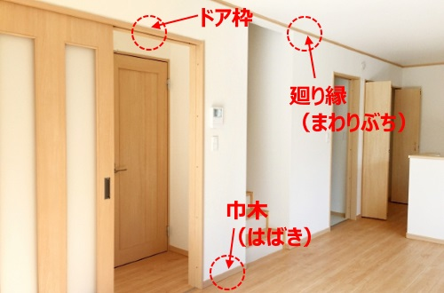 巾木・廻り縁・ドア枠のイメージ画像
