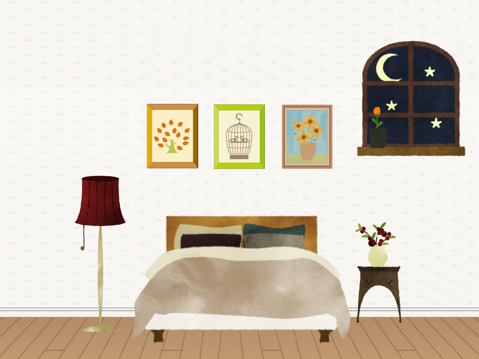 寝室のイラスト