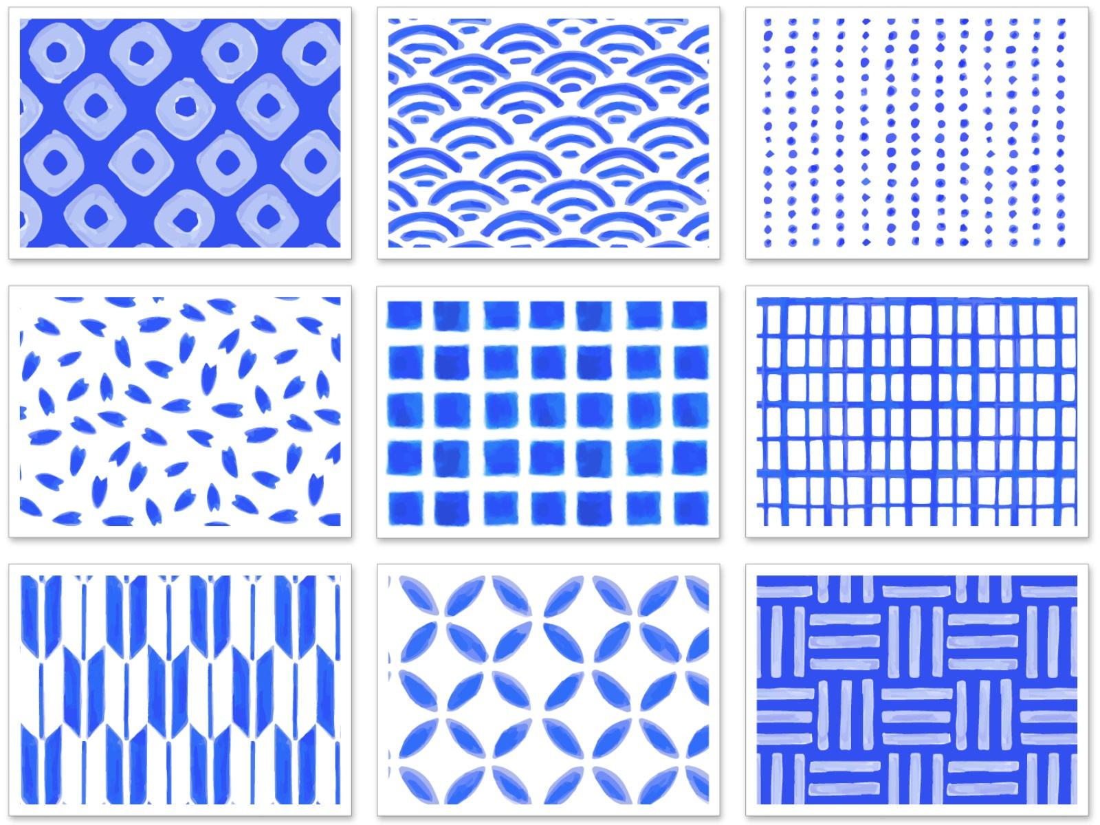 和柄のパターンのイラスト